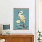 Little Egret + Posterleiste 50 cm