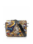 Flying tiger-print satin bag