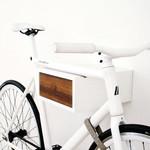 Tîan Fahrradhalterung Weiß/Walnuss