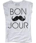 T-Shirt mit Moustache Print