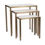 Tischset aus Marmor/Kupfer, 3er Set