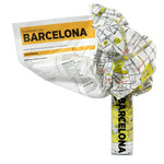 Crumpled City Map Barcelona