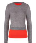Pullover in Rot/Grau