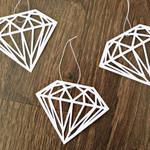 Papier Diamant Anhänger
