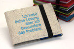 Geistesblitz Notizbuch mit Stift