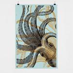 Bon Matin Oktopus Siebdruckplakat