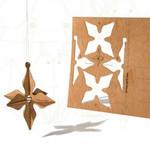 3D Stern-Karten aus Holz, 6 Stück