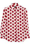 Leinenhemd mit Polka-Dots