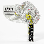 Crumpled City Map Paris