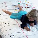 DIY Bemalbarer Bettbezug