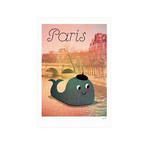 Whale in Paris Poster