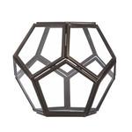 Schale Pentagon (2er-Set) - Klarglas/Bronze