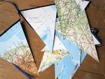 Weltkarten-Girlande