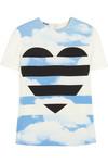 Bedrucktes T-Shirt aus Crêpe
