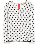 Cashmere-Pullover mit Print