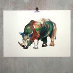 Fine Art Print Rhino
