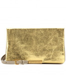 Metallic-Clutch Leder