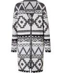 Galach Knit-Coat in Grey/Black/Creme