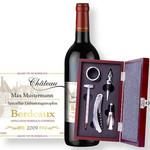 Personalisierbarer Bordeaux & Sommelier-Set
