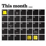 Wandsticker Kalender