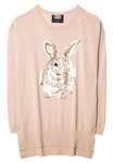 HARE Strickpullover nude