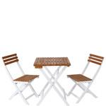 Klapptisch und -Stühle