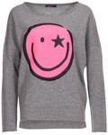 Pullover Smiley Print