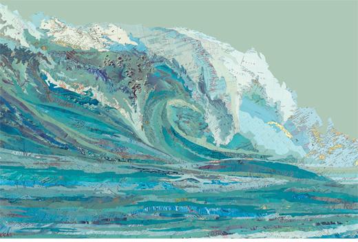 """Matthew Cusicks Werk """"Mylans Wave als Bild bei LUMAS gewinnen"""