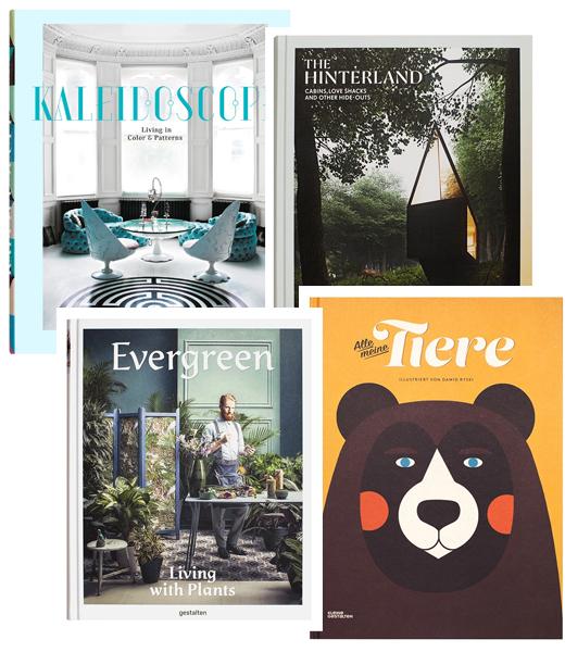 gestalten Bücher - Kaleidoscope, The Hinterland, Evergreen, Alle meine Tiere