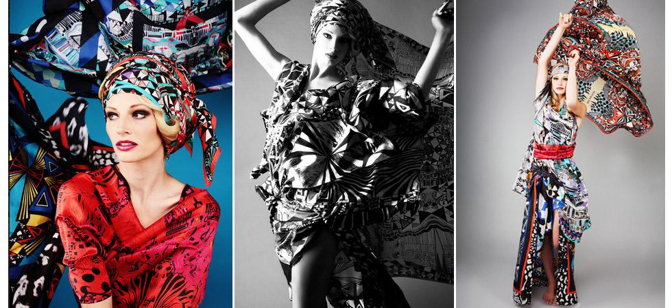 Mode Gewinnspiel, Seidentücher und Schals mit Prints und Digitaldruck von Macaronie gewinnen