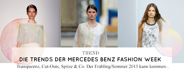 Die Trends der Fashion Week für Sommer 2015