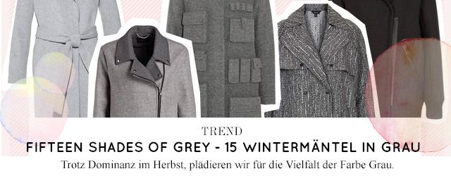 Online bestellen, Modetrend Wintermäntel in Grau im Herbst/Winter 2014