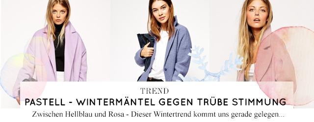 Modetrend Wintermäntel in Hellblau, Rosa und Pastell online bestellen