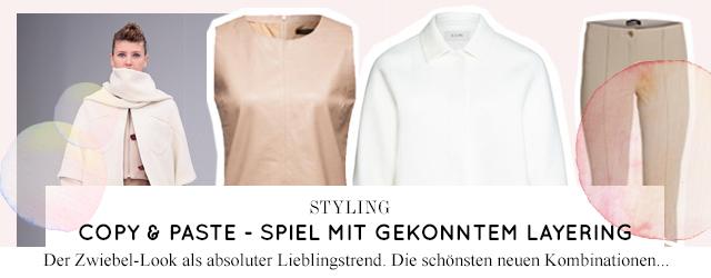 Modetrend im Winter 2015 - Layering und Zwiebellook mit neuem Styling und Outfit zum online bestellen