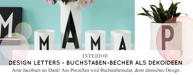 Buchstaben Tassen und Becher von Design Letters zum Dekorieren online bestellen