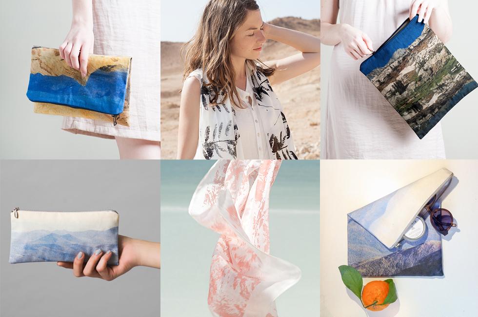 Lee Coren – mit Landschaftsmotiven bedruckte Taschen und Schals, handmade, Accessoires, vegan, Etsy, online bestellen