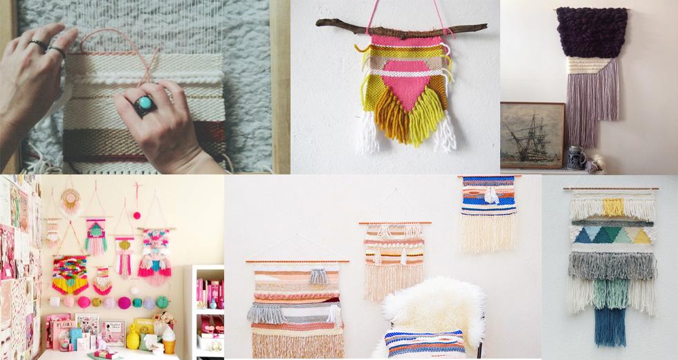 Interior-Trend: Handgewebte Wandteppiche, online bestellen, DIY, Onlineshop, Etsy, Dawanda, woven wall hanging