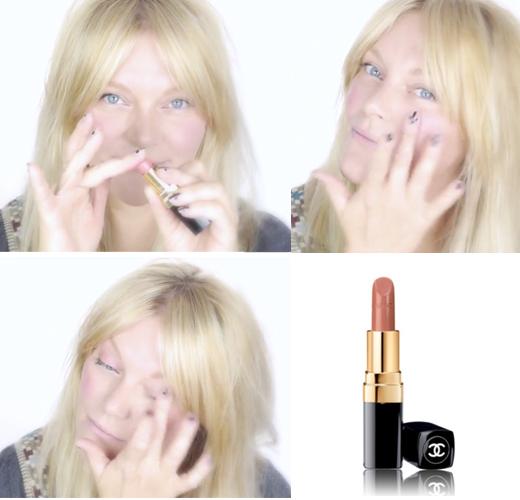 Visagistin Ina Cierniak mit einem Beauty Tutorial für ein schnelles Make up mit nur einem Produkt, Lippenstift Chanel, rouge coco