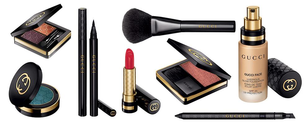 Gucci Beauty Serie mit neuen Make-Up Produkten jetzt online bestellen, Mascara, Puder, Lidschatten. Eye Liner, Lippenstift, Puder Pinsel