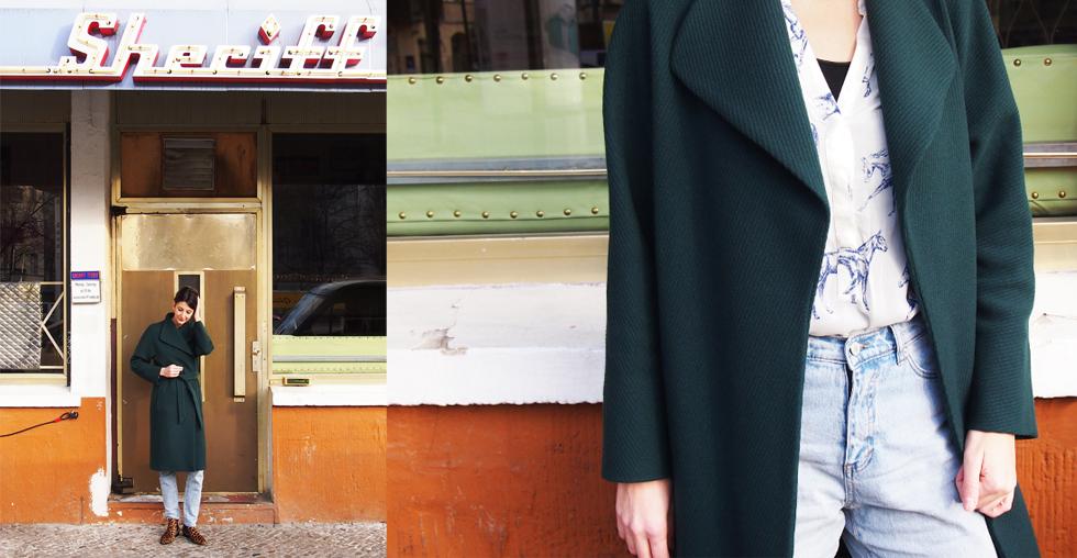 Outfit Styling mit Salon Stylistin - Mantel von Hugo Boss, Jeans von Cheap Monday und Chelsea Boots im Leo Look von Zign