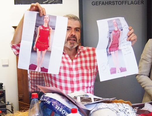 Kostüme für das Ballett JEWELS des Choreographen George Balanchine von Designer Lorenzo Caprile für das Staatsballett Berlin, entwürfe, kostüme. rubins