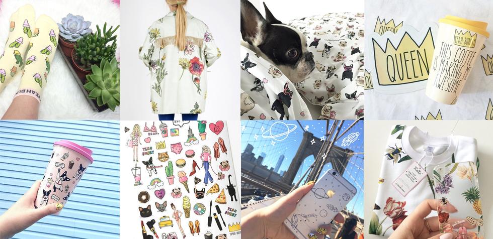 Sweatshirt, T-Shirt, und Parka von Yeah Bunny mit Blumen, Flora und Botanik Palmen Print, Illustrationen, Coffee To Go Becher, IPhone Hüllen, Bettwäsche mit Muster