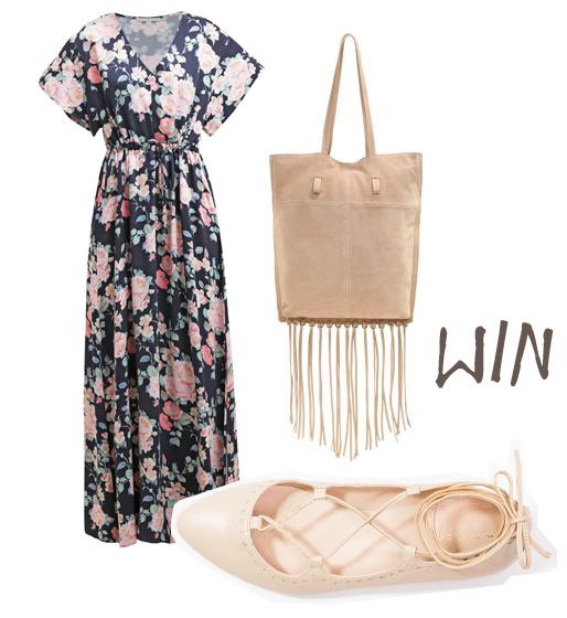 Flower Power Outfit mit Maxikleid von mint&berry gewinnen, Gewinnspiel