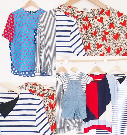 Modetrend im Sommer 2016 - Die Bluse mit Streifen und viel Blau, Weiß, Rot