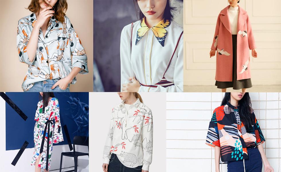 Modelabel The Purple Fishbowl - Seidenblusen, Kimonos, Rocke und Kleider mit Prints und Drucken