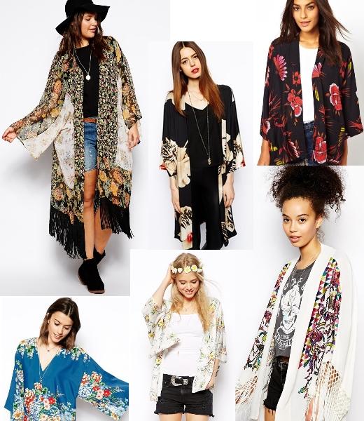 Kimonos in lang oder kurz, bestickt und mit Fransen bei asos online bestellen