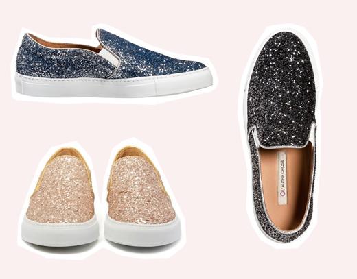 Glitter Slip-on Sneakers von l´autre Chose online bestellen