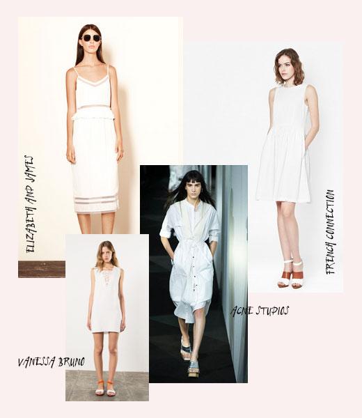 Kleider für den Sommer in Weiß