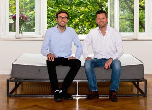 Matratze Bruno von Brunobett. de und die Gründer Felix Baer und Andreas Bauer, Start-up, berlin, onlineshop