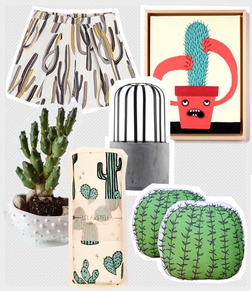 Wohntrend und Modetrend Kaktus - Mit Prints und Drucken für Kleidung und Wohnaccessoires, Kaktus Pflanzgfäß, Kaktus Kissen, MSGM Short mit Kaktus Druck